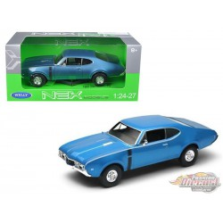 1968 Oldsmobile  442  Blue Welly 1/24 24024 BL - Passion Diecast