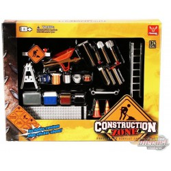 Construction Zone -  Garage Diorama Accessory - HOBBY GEAR - 1/24 -  18425 - Passion diecast