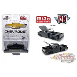 "Chevrolet Custom Deluxe 10 ""Black Widow""  -  M2 Auto Trucks 1:64 - Mijo Exclusive - 31500 MJS32 - Passion Diecast"