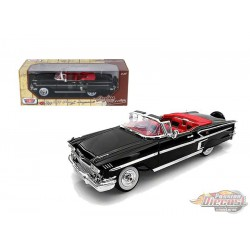 1958 Chevrolet Impala Convertible Black   - Motormax 1/18 -   73112 BK - Passion Diecast