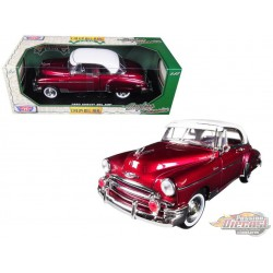 1950 Chevrolet Bel Air Hard Top Red   - Motormax 1/18 -   73111 RD  - Passion Diecast
