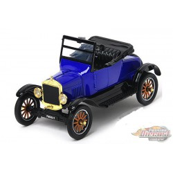 1925 Ford Model T Runabout Convertible Blue -  Motormax 1/24 - 79327 BL  - Passion Diecast
