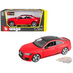 Audi RS 5 Coupe Red with Black Roof - Bburago 1-24 - 21090 RD - Passion Diecast