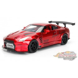 2009 Nissan GT-R (R35) Ben Sopra red - JDM Tuners -  Jada 1/24 - 99215 RD - Passion Diecast