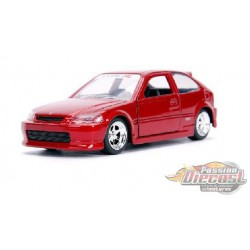 1997 Honda Civic EK Type-R  Red - JDM Tuners - 1/32 - Jada  - 30972 RD  - Passion Diecast