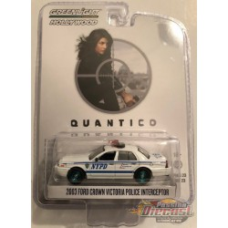2003 Ford Crown Vic NYPD - Quantico Hollywood Série 23  GREENMACHINE  44830FGR 1-64