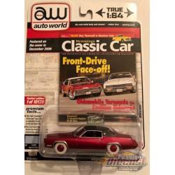 1967 Cadillac Eldorado - Venetian Blue  / Black Vinyl Roof - Hemmings Muscle - CHASE CAR ULTRA RED Auto World 1/64 - AWSP047 BGR
