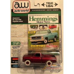 1979 Chevrolet Scottsdale -Two-Tone Red and Black with Yellow Pinstripes - Hemmings Muscle - Auto World 1/64 - AWSP048 B
