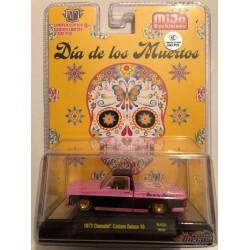"""1973 Chevy Custom Deluxe  """" DIA DE LOS MUERTOS """" -  M2 Auto Trucks 1:64 - CHASE CAR Mijo Exclusive - 31500 MJS31GR"""