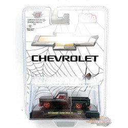 """Chevrolet Custom Deluxe 10 """"Black Widow""""  -  M2 Auto Trucks 1:64 - CHASE CAR Mijo Exclusive - 31500 MJS32GR Passion Diecast"""