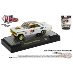 1967 Chevrolet Nova Gasser HURTS Edition - Auto-Gassers  CHASE CAR M2 Machines 1:64 Hobby Exclusive - 31600 GS06GR