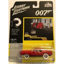 1971 Ford Mustang - James Bond 007 -  Diamond Are Forever   - White Lightning 1:64 - JLSP126GR Passion Diecast