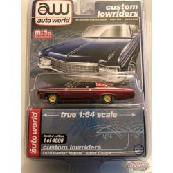 1970 Chevy Impala SS  - Lowriders - CHASE CAR ULTRA RED Auto World 1/64 MiJo Exclusives - CP7666GR Passion Diecast