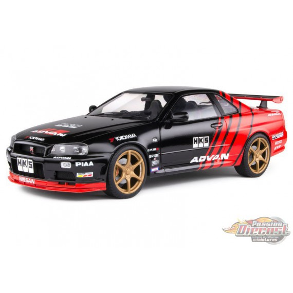 1999 NISSAN R34 GTR - DRIFT EVOCATION - Solido  1/18 S1804302 Passion Diecast