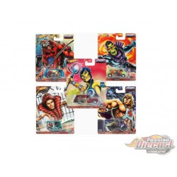 Hot Wheels 1:64 Pop Culture 2021 ''B'' Case Master Of The Universe -  Assortment -  Set of 5 Cars - DLB45-946J - Passion Diecast
