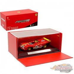 Ferrari 312P n°85 Gagnant 6h Watkins Glen 1972 Ickx, Andretti  -  Bburago  1/43 - 36302 - Passion Diecast