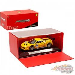 Ferrari 488 Challenge n°1 yellow -  Bburago  1/43 - 36306  - Passion Diecast