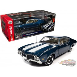 1969 Oldsmobile 442 W-30 - Blue -  Autoworld - 1-18 -  AMM1236 -  Passion Diecast