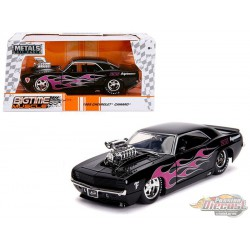 1969 Chevrolet Camaro with Blower, Black / Pink Flames -  JADA 1/24 -  30707 - Passion Diecast