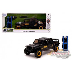 2020 Jeep Gladiator - Black/Matte with extra wheels - Just Truck -  JADA 1/24 -  32423  -  Passion Diecast
