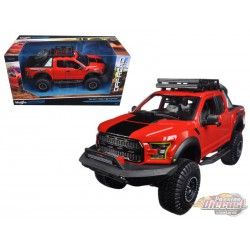 2017 Ford F-150 Raptor Pickup Truck Red - Maisto Off Road Kings 1/24 - 32521 RD  - Passion Diecast