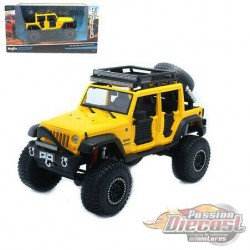 2015 Jeep Wrangler Unlimited Yellow - Maisto Off Road Kings 1/24 - 32523 YL - Passion Diecast