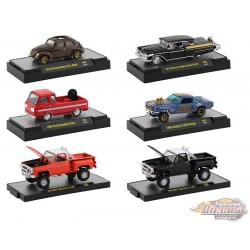 Auto-Trucks Release 62    Assortment of 6 - M2 Machines 1-64 - 32500-62 - Passion Diecast
