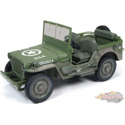 1941 Willys MB Jeep US Army Dirty Version -  Autoworld -1-18 -  AWML005 B - Passion Diecast