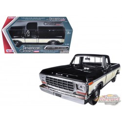 1979  Ford F-150 Pickup Black - Motormax 1-24 - 79346 Bk  - Passion Diecast