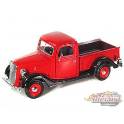 1937 Ford Pickup Red Motormax 1-24 - 73233 RD - Passion Diecast