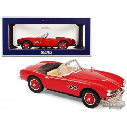 1956 BMW 507 Convertible Red -  Norev 1/18 - 183231 -   Passion diecast