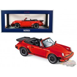 1987 Porsche 911 Turbo Cabriolet Red - 1/18  Norev  - 187664 - Passion Diecast