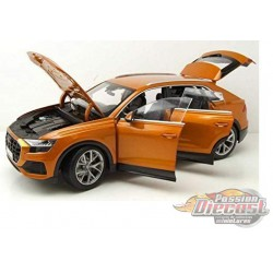 2018 Audi Q8 Orange Metallic - Norev 1-18 - 188371  - Passion Diecast