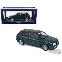 1996 Volkswagen Golf VR6 Green Metallic - 1/18  Norev - 188437  - Passion diecast