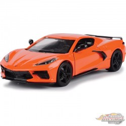 2020 Chevrolet Corvette C8 Stingray  Orange - Motormax 1/24 - 79360 OR - Passion Diecast