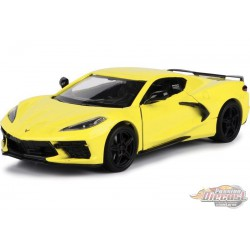 2020 Chevrolet Corvette C8 Stingray  Yellow - Motormax 1/24 - 79360 YL - Passion Diecast