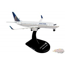 """United Airlines Boeing 737-800 """"2019"""" - Postage Stamp 1/300 - PS5815-4 Passion Diecast"""