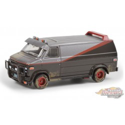 The A-Team  - 1983 GMC Vandura (Weathered Version) - Greenlight 1/64 -  44865 F