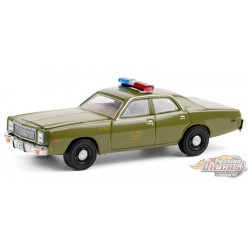 1977 Plymouth Fury U.S. Army Police  - The A-Team  - Greenlight 1/64 -  44865 A  Passion Diecast