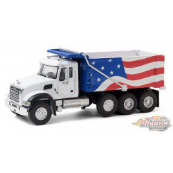 2019 Mack Granite Dump Truck  Red, White and Blue -  SD Trucks 11 - Greenlight  1.64 - 45110 C - Passion Diecast
