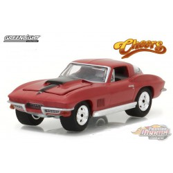 Sam's 1967 Chevy Corvette Sting Ray - Cheers TV Series - Hollywood 17 - 1-64  greenlight - 44770 B  -  Passion Diecast