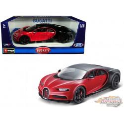 Bugatti Chiron Sport n°16 Red and Black - 1:18 Bburago  - 11044 RD - Passion Diecast