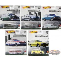 Hot Wheels 1:64 Car Culture 2021  ''B'' Case  Fast Wagons -  Assortment -  Set Of 5 Cars - FPY86-957B -  Passion Diecast