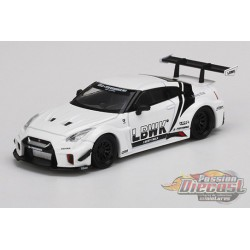 LB- Silhouette Works GT Nissan 35GT-RR Version 2 White-  MINI GT 1:64 - Mijo Exclusive - MGT00209 - Passion Diecast