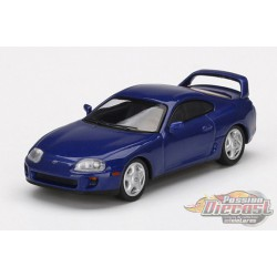 Toyota Supra Blue Pearl Metalic -  MINI GT 1:64 - Mijo Exclusive - MGT00211 - Passion Diecast