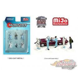 Hazmat Crew Figurine 6 pieces Diecast  -  American Diorama 1-64 - 76466 MJ - Passion Diecast