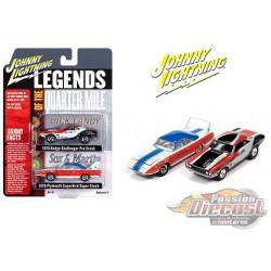 1970 Dodge Superbird / 1970 Dodge Challenger Legends Of The Quarter Mile - Set of 2 -  Johnny Lightning 1:64 - JLSP116
