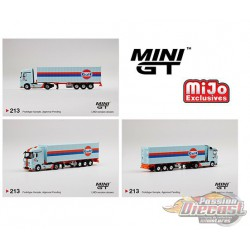 Mercedes-Benz Actros With 40 Ft Container - GULF  -   MINI GT 1/64  -  MGT00213 - Passion Diecast