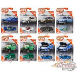 """Matchbox 1:64 Articulated Cars  """"H""""  Case  -  Assortment -  Set of 8 Cars - FWD28-956H"""