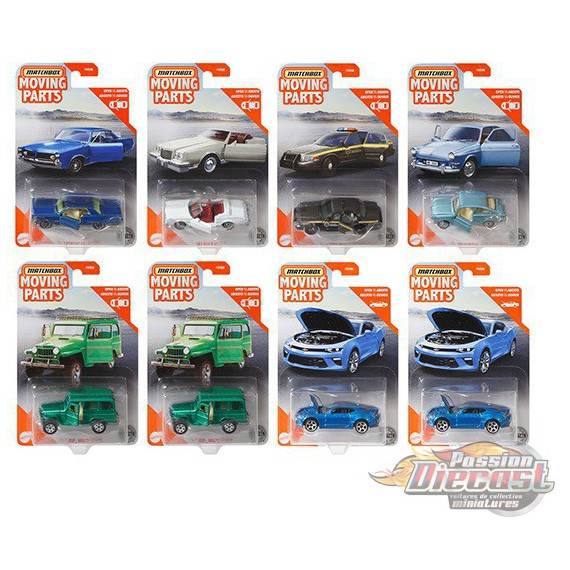 """Matchbox 1:64 Articulated Cars  """"H""""  Case  -  Assortment -  Set of 8 Cars - FWD28-956H  - Passion Diecast"""